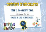 Easter Certificate Design 1